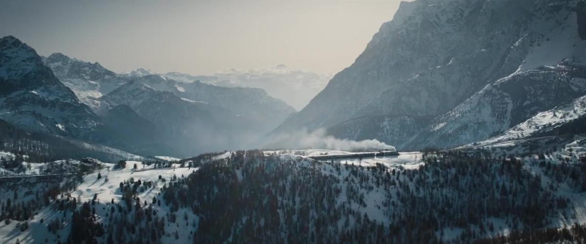 Mord im Orient-Express: Das Setting einer Berglandschaft